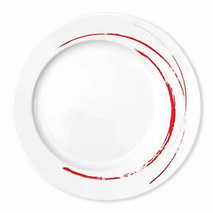 Assiette Originale Moderne : assiette rouge en porcelaine design moderne et chic bruno evrard ~ Teatrodelosmanantiales.com Idées de Décoration
