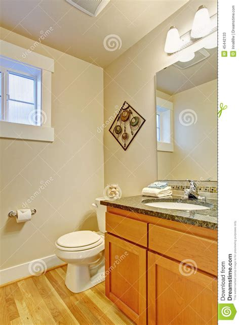 Restroom Vanity Cabinets by Restroom With Maple Vanity Cabinet Stock Photo Image