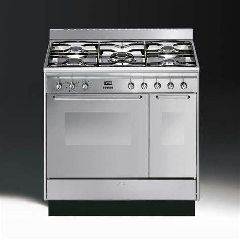 smeg cucina cc92mx9 dual fuel 90cm range cooker stainless steel with chrome trim