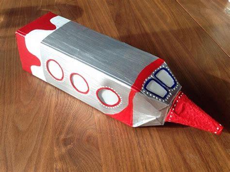 laterne aus tetrapack basteln raketenlaterne handmade