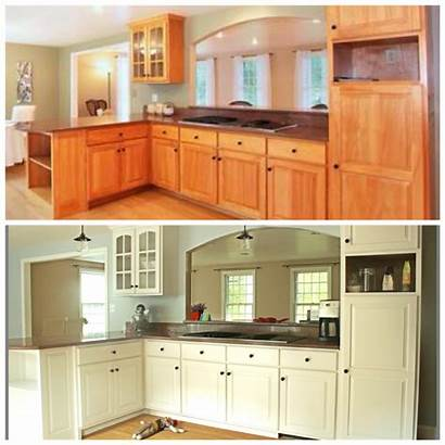 Cabinet Cabinets Kitchen Transformations Painting Rustoleum Before