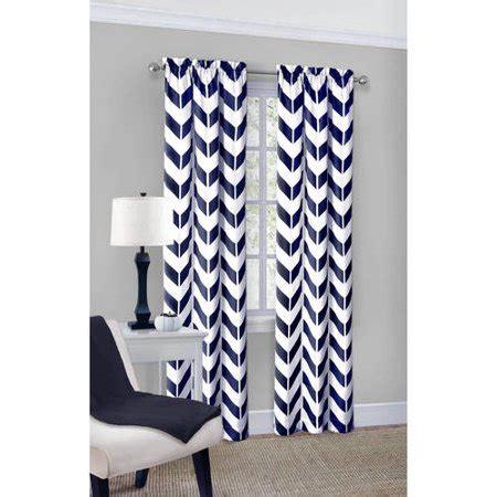 chevron curtains walmart mainstays chevron polyester cotton curtain panel pair