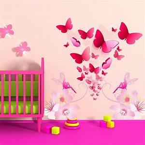 Sticker Chambre Bebe : stickers chambre b b floril ge de papillons enchanteurs ~ Melissatoandfro.com Idées de Décoration
