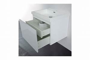 Meuble Tiroir Salle De Bain : meuble de salle de bain 60 cm suspendu simple vasque primo ~ Edinachiropracticcenter.com Idées de Décoration