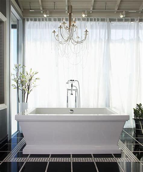 chandelier over bathtub for the home pinterest
