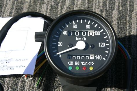 black speedometer kph km h gauges with indicator lights ebay