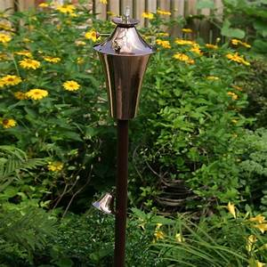 Shop starlite garden patio torche deluxe kona 2 pack 63 for Garden torches