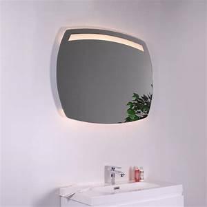 miroir ovale salle de bains eclairant led et systeme antibuee With miroir led anti buée