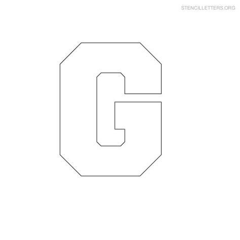 block letter stencils stencil letters g printable free g stencils stencil