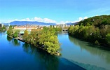 The Confluence of Rhone and Arve rivers, Geneva ...