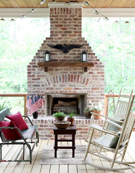 deck fireplaces traditional green the great outdoors porch fireplace