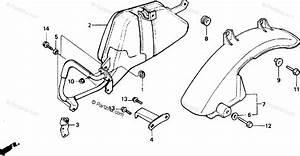 Honda Scooter 1985 Oem Parts Diagram For Muffler