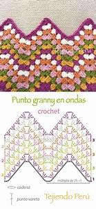 Crochet  Diagrama Del Punto Granny En Ondas