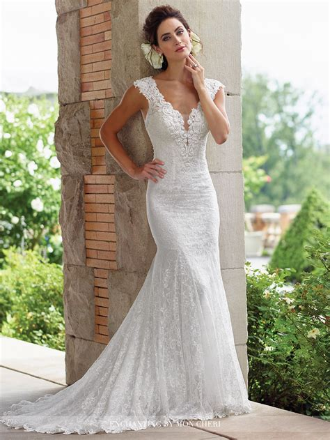 lace fit and flare dress enchanting by mon cheri 117193 wedding dress