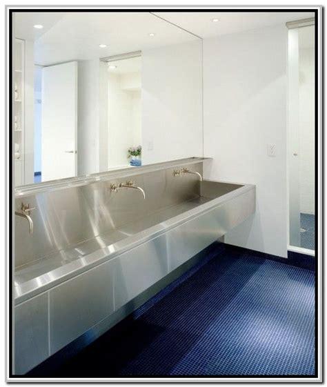Modern Stainless Steel Bathroom Sinks by Stainless Steel Trough Sink Bathroom Design Lodge