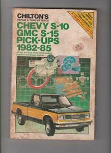 Chevy S10 Manual 82