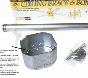 Ceiling fan box doityourself community forums