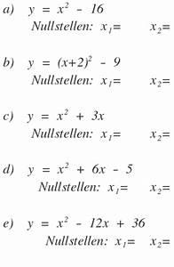 Parabel Rechnung : nullstellen bestimme die nullstellen der funktionen durch rechnung y x 2 16 mathelounge ~ Themetempest.com Abrechnung