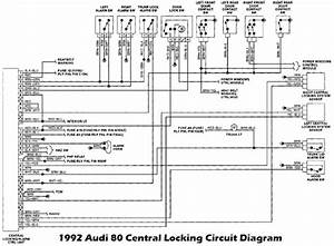 1992 Audi 80 Central Locking Alarm Control Unit Wiring Diagram  58569