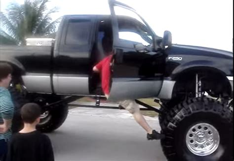 best floor for lifted trucks creative ways of getting into a lifted truck