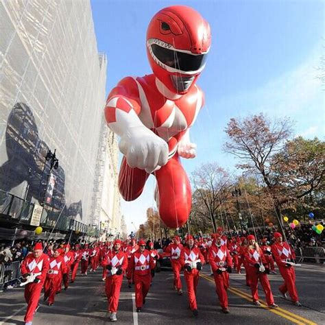 red power ranger  macys thanksgiving day parade