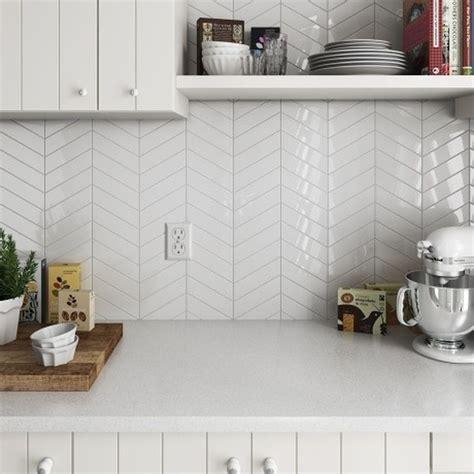 chevron white gloss  wall tiles tileflair