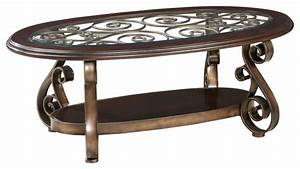 standard furniture bombay oval glass top cocktail table With traditional glass coffee tables