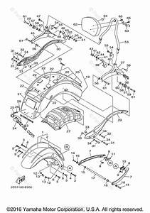 Yamaha Motorcycle 2008 Oem Parts Diagram For Fender