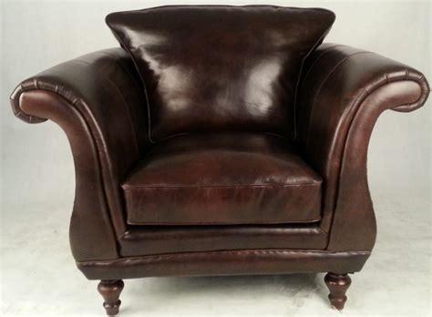 Single Seater Retro Vintage Leather Sofa Armchair