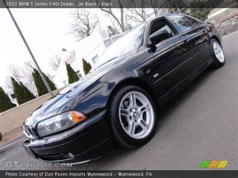 Jet Black  2002 Bmw 5 Series 540i Sedan  Black Interior