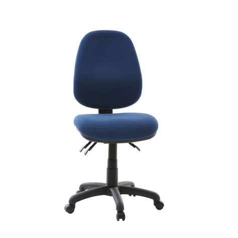 matrix high back 3 lever chair blue officeworks