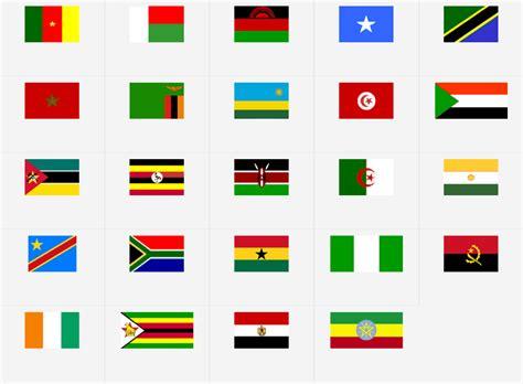 afrika flagg geografispill