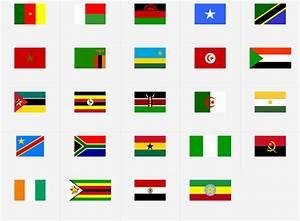 África: Banderas Juego de Mapas