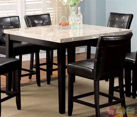 marion ii contemporary espresso counter height dining set