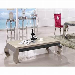 Table Basse Marbre But : table basse inox et verre marbre palace tables basses tables consoles ~ Teatrodelosmanantiales.com Idées de Décoration