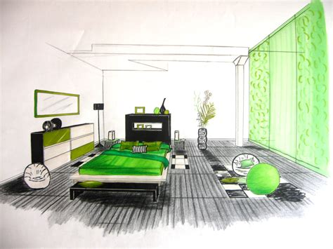 dessin chambre stunning chambre en perspective dessin pictures design