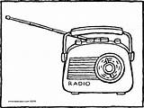 Radio Colouring Kiddicolour Pages Drawing Receiver Mail sketch template