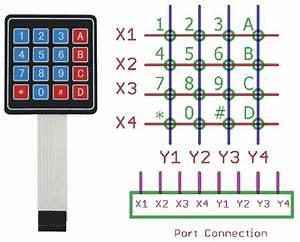 4x4 Matrix Keypad Pinout In 2019