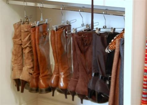 boot hangers for closet organize your boots using clothing hangers alldaychic