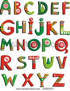 Colorful Christmas Alphabet Letters