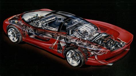 mid engine corvette indy cutaway shows  couldve