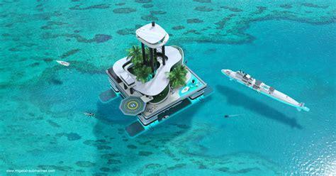 yacht island kokomo floating island world s only island for private superyachts and submarines extravaganzi