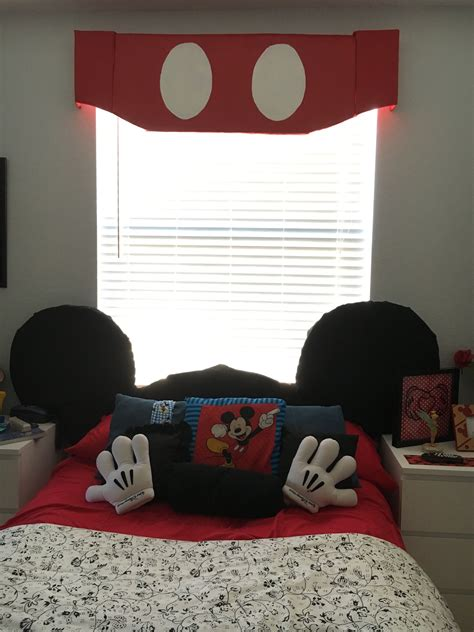 disney themed room mickey mouse ears headboard