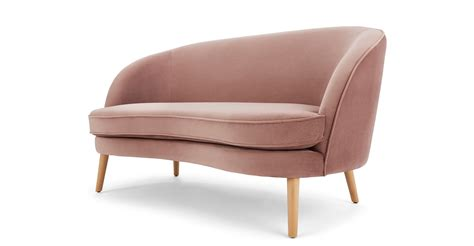 pink velvet sofa uk gertie 2 seater sofa vintage pink velvet made com