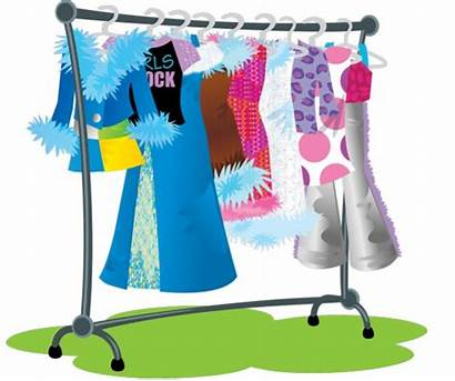 Clothes Rack Clipart Clip Clothing Racks Rail