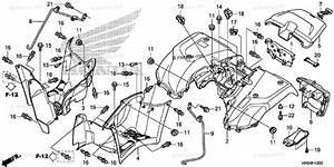 Honda Atv 2012 Oem Parts Diagram For Rear Fender