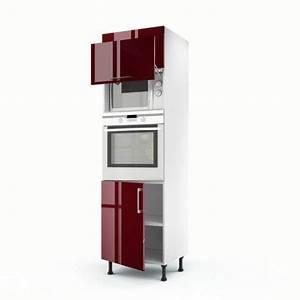 meuble cuisine colonne four micro onde maison et With meuble pour micro onde et mini four