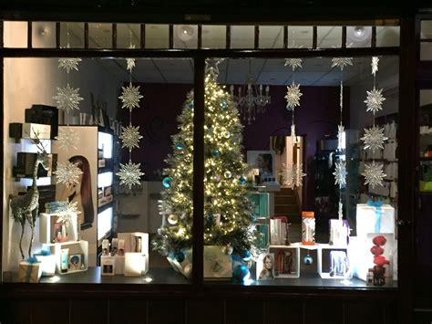 christmas time window display christmas moroccanoil