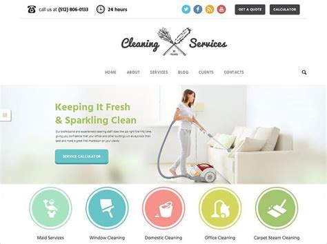 Clean Themes 12 Cleaning Company Themes Free Premium Templates