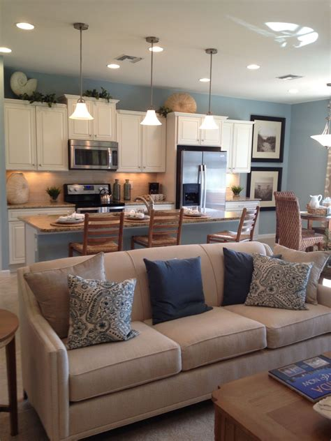 Open Kitchenliving Area Like The Neutral Countertops And